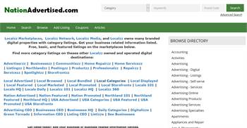 NationAdvertised.com - National to local business related information listings.