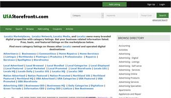 USAStorefronts.com - National to Local business and information listings